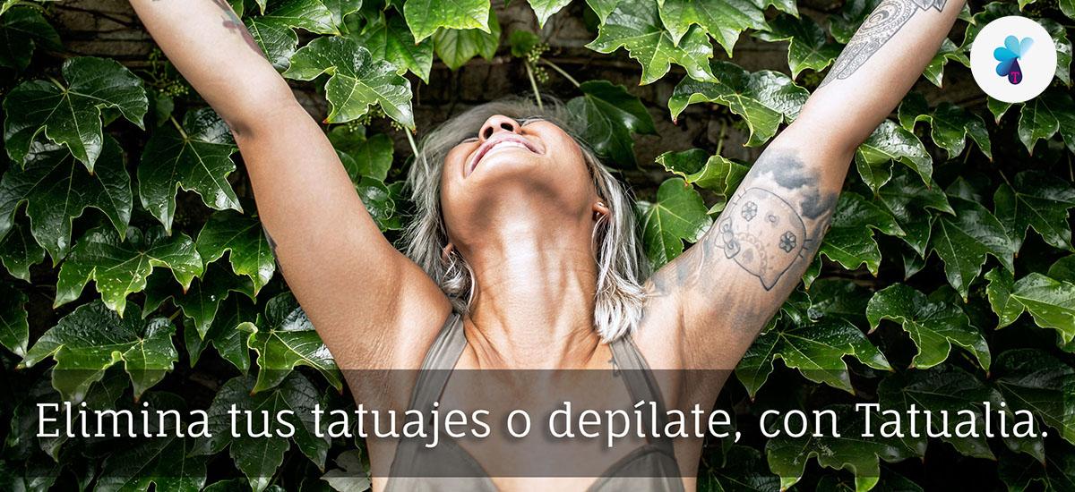 Elimina tus tatuajes o depílate con Tatualia.